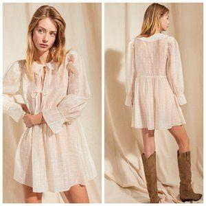 ARITZIA LE FOU Cream Tencel Cottage Dress